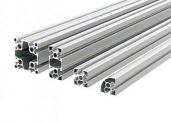 Perfil u em aluminio