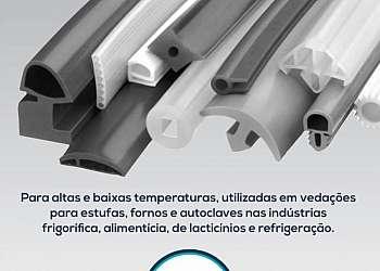 Perfil de silicone para vidro